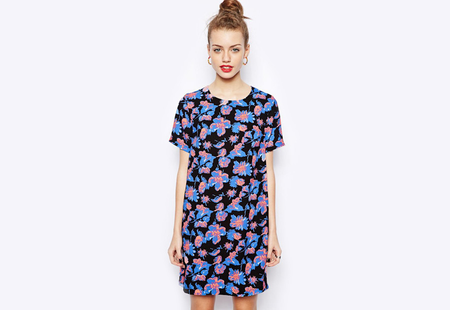 Šaty Asos – dámské, květinový motiv
