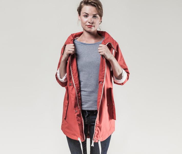 Frisur Maren Washed Red jarní bunda červená
