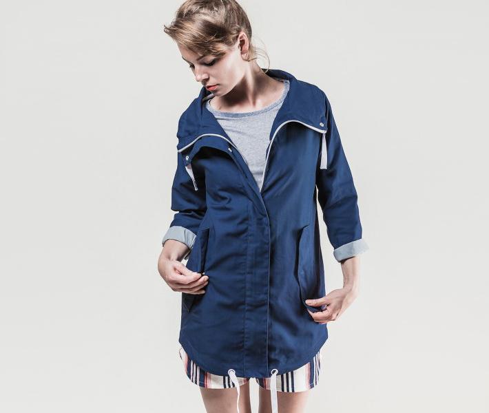 Frisur Maren Navy jarní bunda modrá