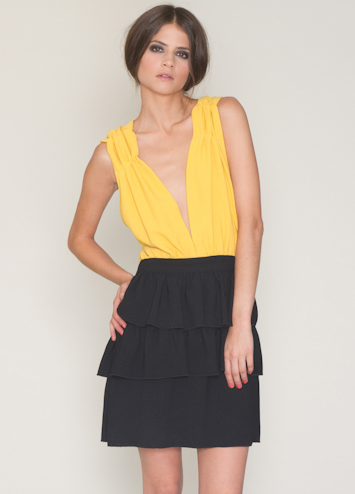 Pepa Loves Nieves Mustard šaty