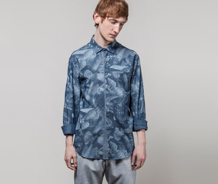 Frisur Lutz Seashore Blue, modrá košile