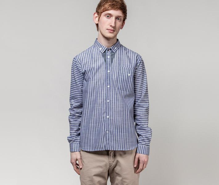 Frisur Ludwig Stripes Blue, modrá košile