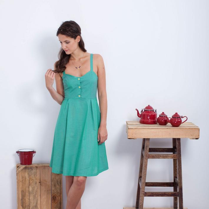 Loreak Mendian Zafiro šaty