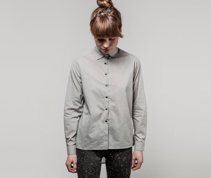 Frisur Lucia Light Grey, šedá dámská košile