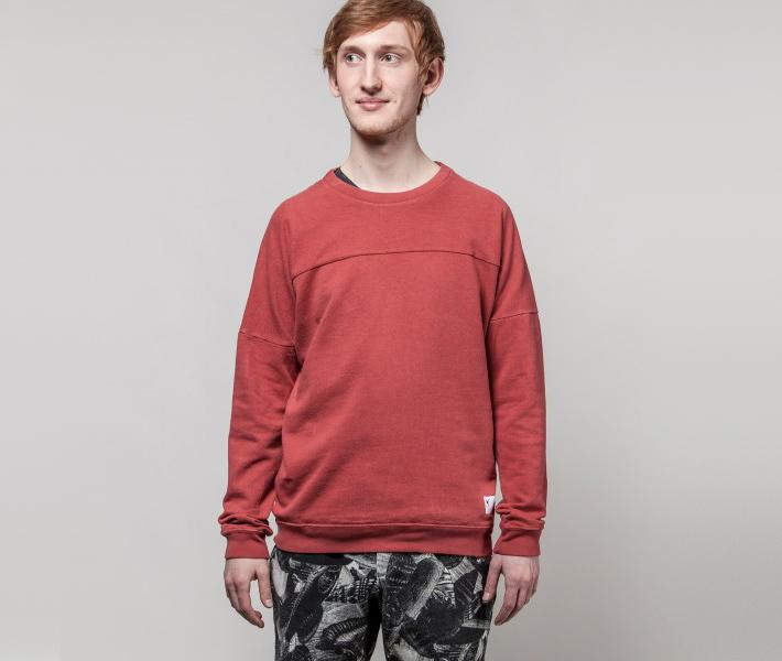 Frisur Helge Washed Red, červená mikina