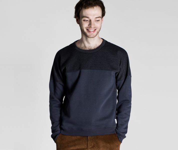 Frisur Clothing Helge Anthracite, antracitová mikina