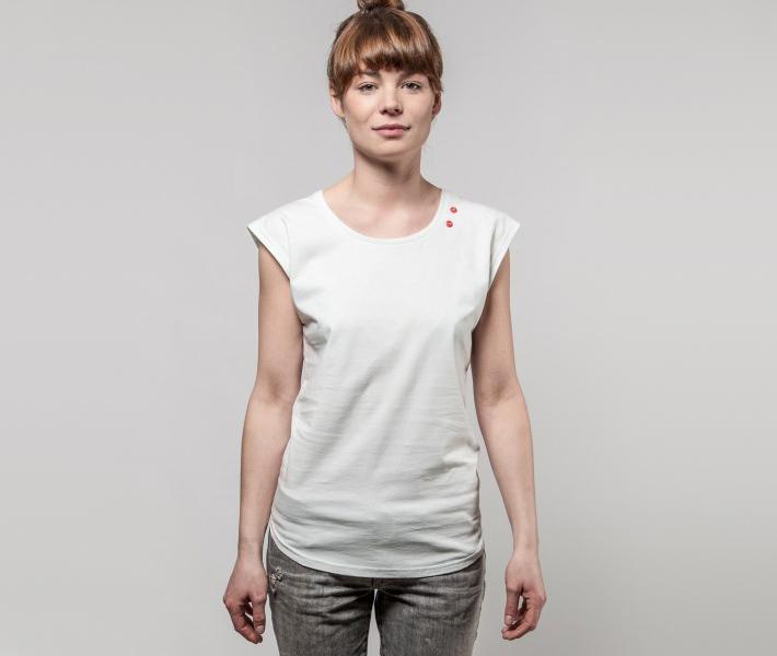 Frisur Alice Offwhite, bílé dámské triko