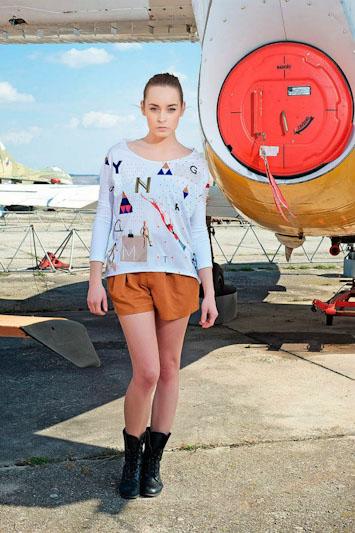 Youngprimitive Artcore dámské bílé tričko spotiskem