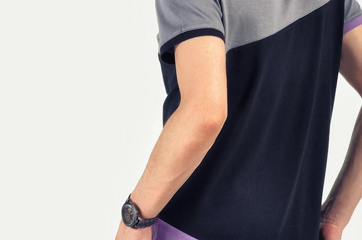 Pattern pánské tričko šedo černé