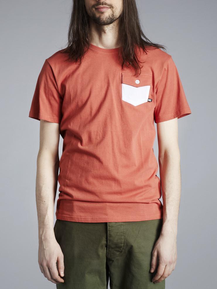 Makia pánské triko oranžovo červené
