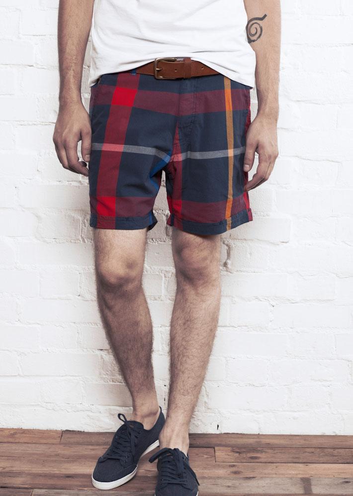 Supremebeing Havana Bare Check, pánské šortky kostkované