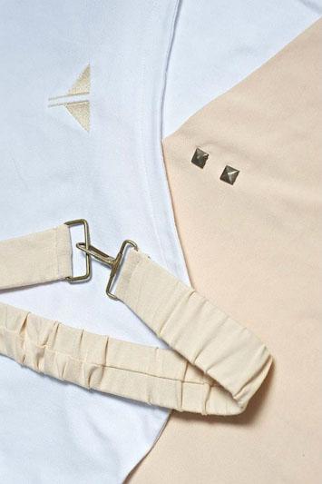 Youngprimitive Barbarella bílé béžové dámské šaty