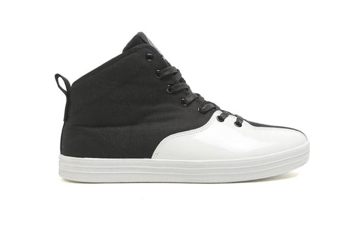 Gourmet kotníkové boty černo-bílé