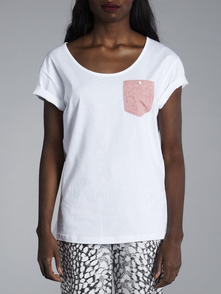 Makia dámské bílé triko skapsičkou