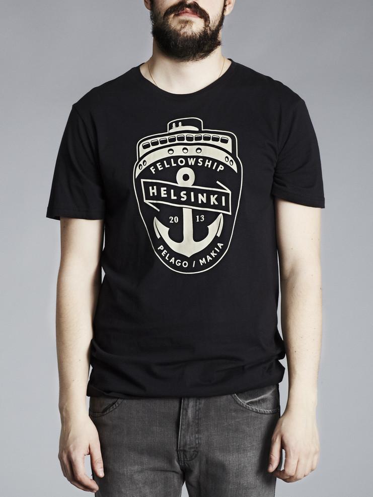 Makia pánské triko černé