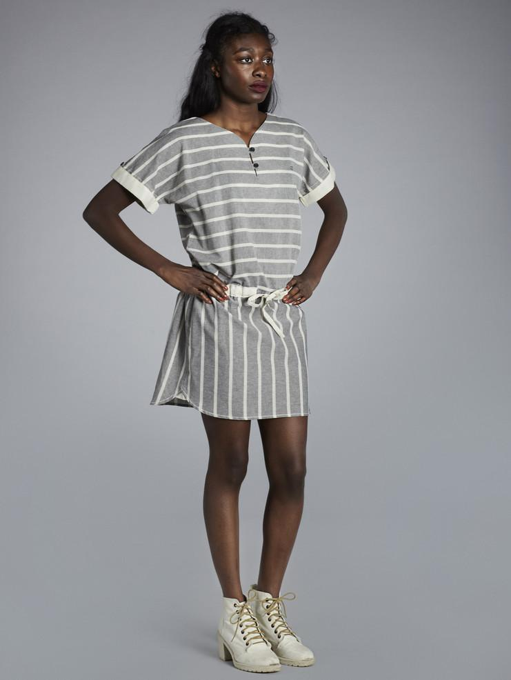Makia dámské pruhované šedé šaty