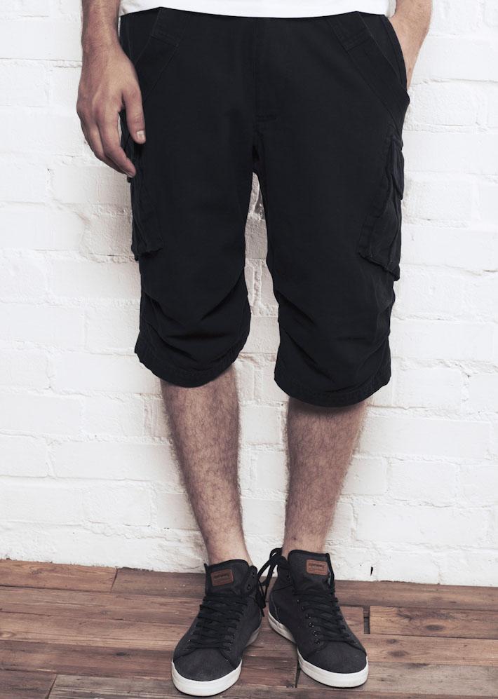 Supremebeing Surplus Black, pánské šortky černé