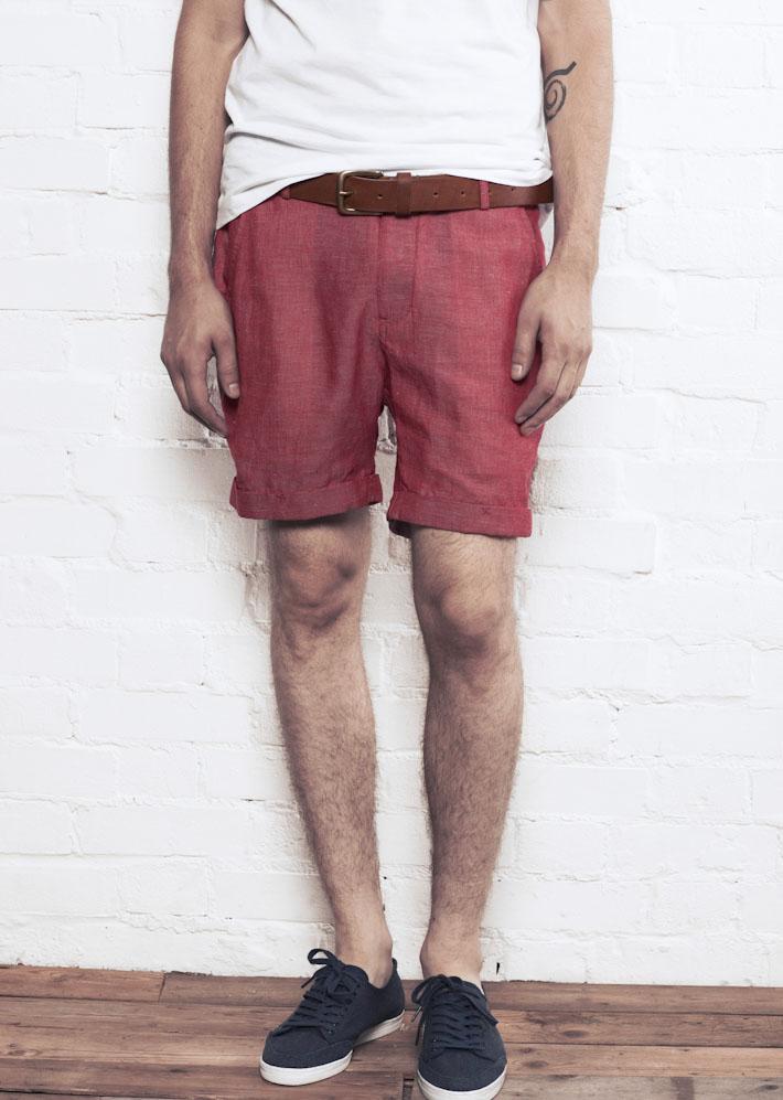 Supremebeing Havana Red, pánské šortky červené