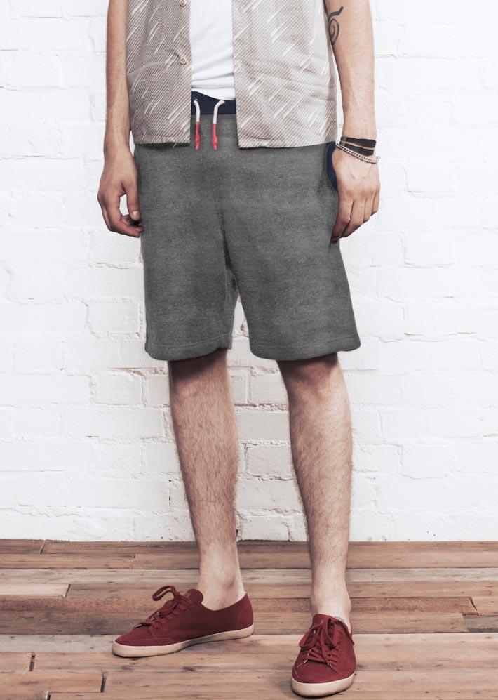 Supremebeing Shortie Grey, pánské šortky šedé