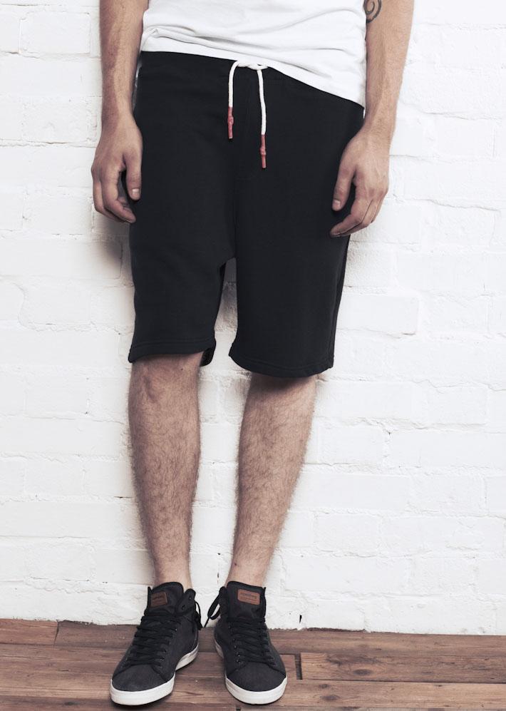 Supremebeing Shortie Black, pánské šortky černé