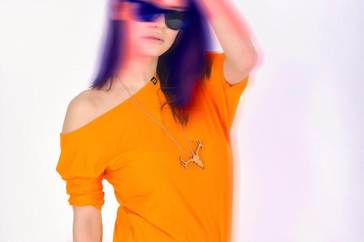 Pattern dámský top oranžový