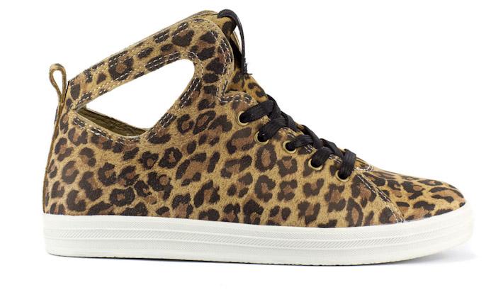 Gourmet dámské kotníkové boty gepardí motiv