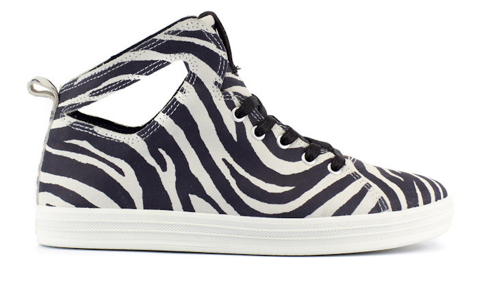 Gourmet dámské kotníkové boty motiv zebra