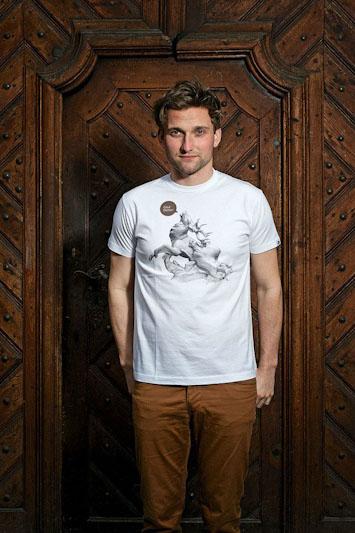 Youngprimitive Štvanice pánské bílé tričko spotiskem