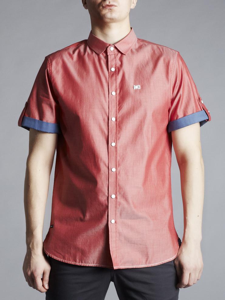 Makia pánská košile světle červená