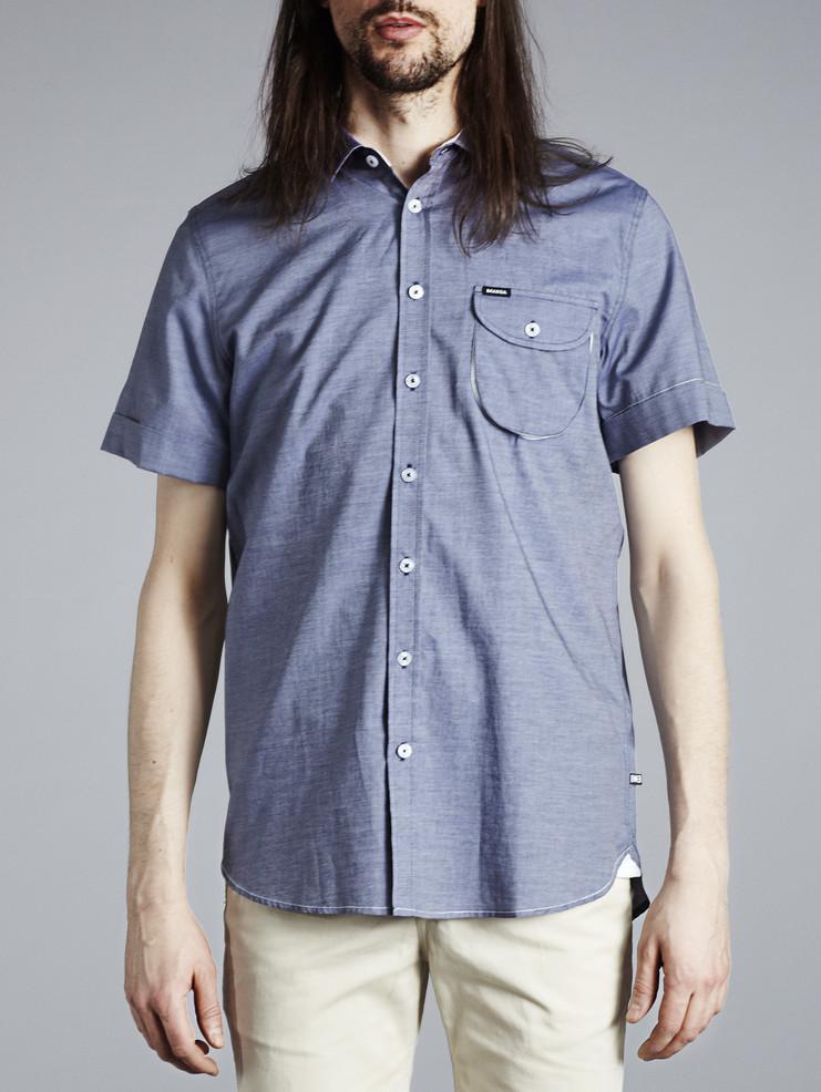 Makia pánská košile modrá