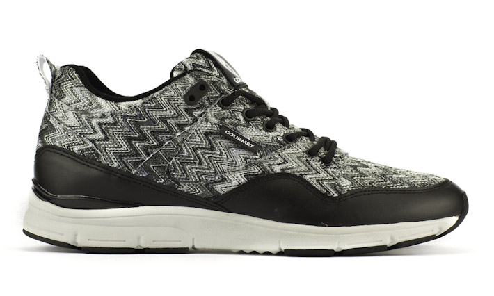 Gourmet kotníkové boty černo-šedé