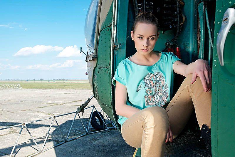 Youngprimitive The City Girly dámské zelené tričko spotiskem