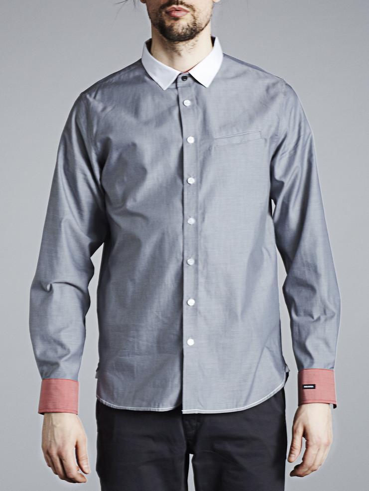 Makia pánská košile šedá
