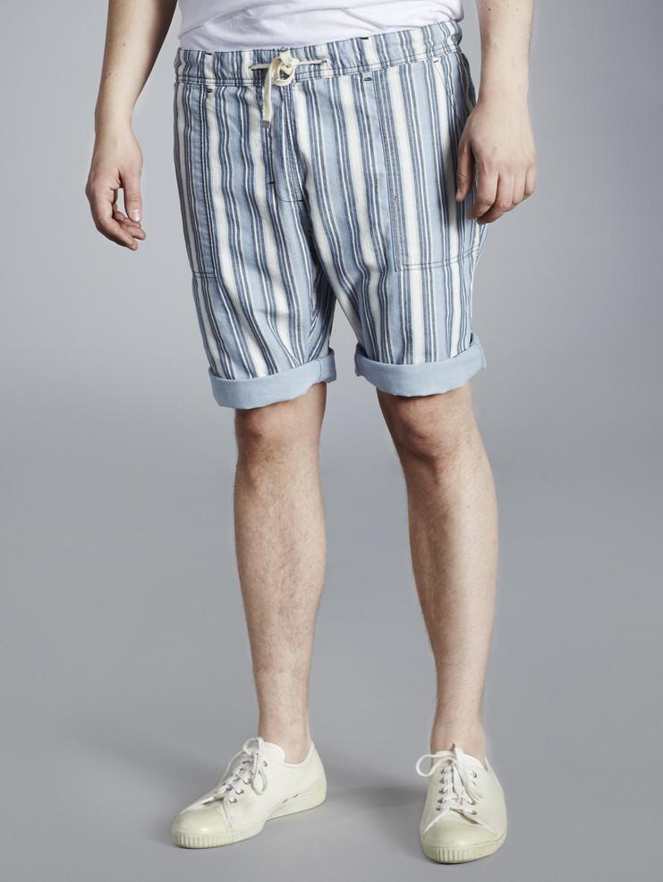 Makia pánské šortky modré pruhované