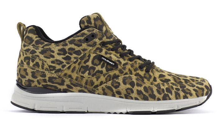 Gourmet kotníkové boty sleopardím motivem