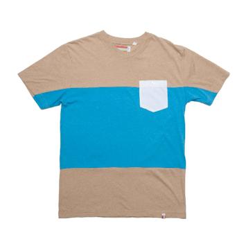 Slvdr Pratt Mineral, modro-pískové triko
