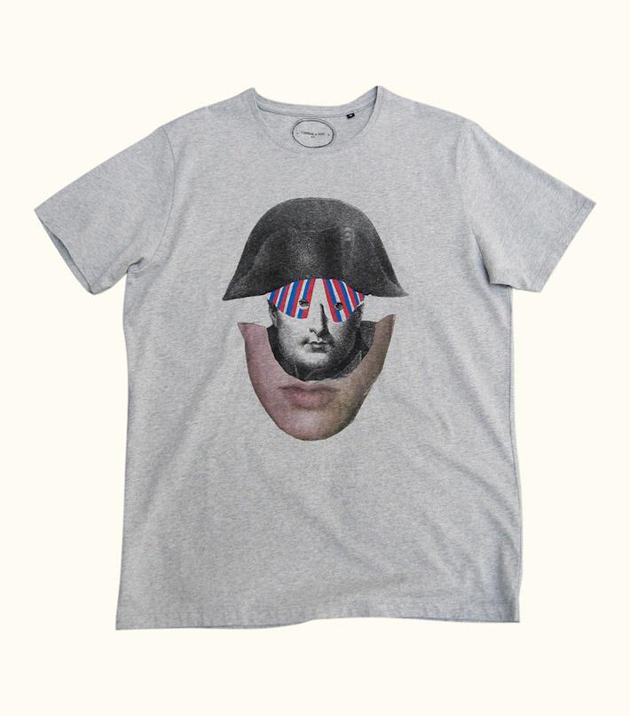 Commune de Paris pánské šedé tričko spotiskem