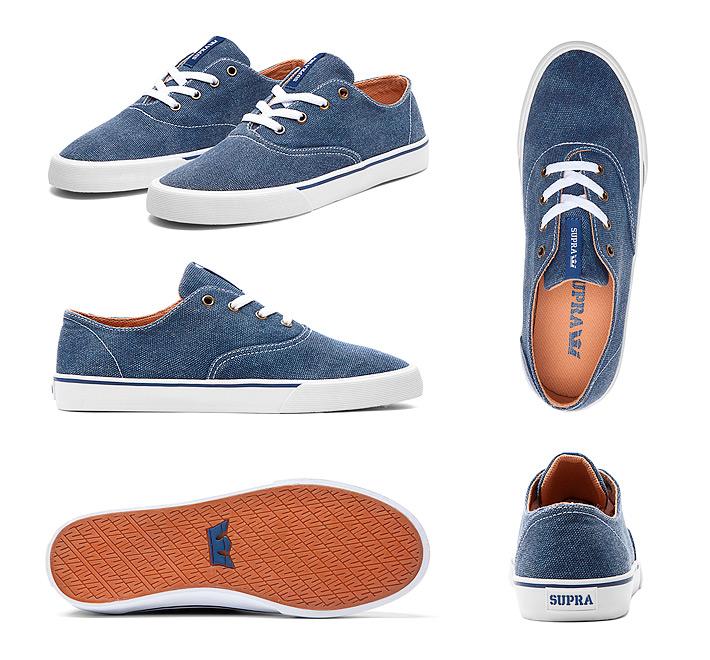 Supra Wrap boty Estate Blue White, jeansové modré