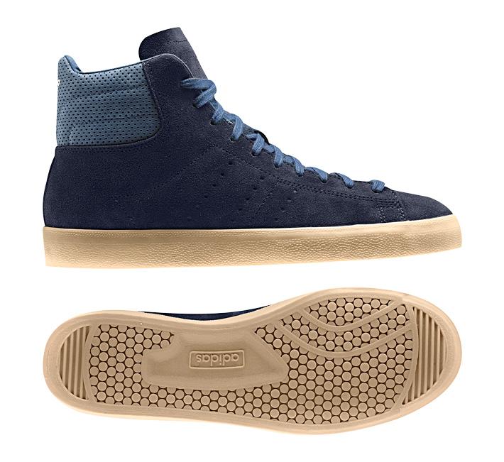 adidas Originals Match Play semišové kotníkové boty modré