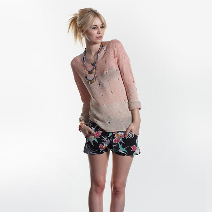Stussy dámský svetr, květinové šortky dámské