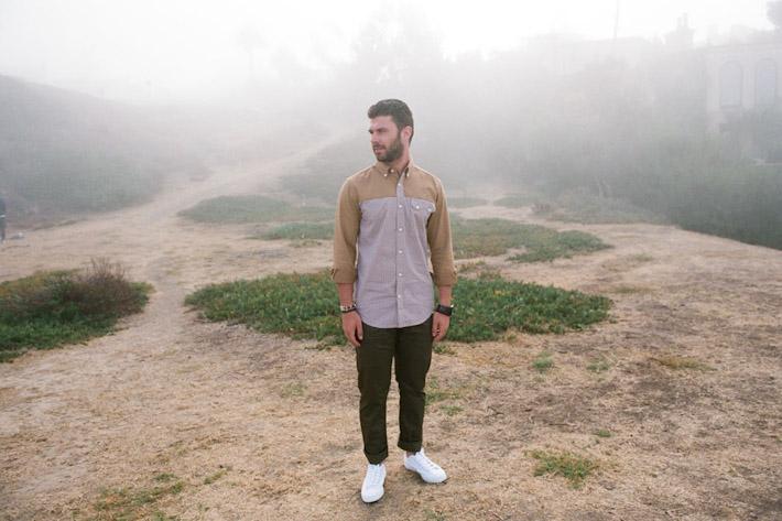 Publish kostkovaná košile pánská, zelené kalhoty pánské