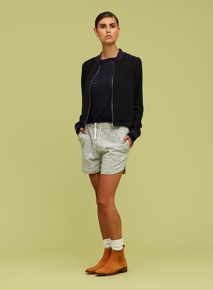 Libertine Libertine dámská bunda do pasu černá, dámské šedé kraťasy
