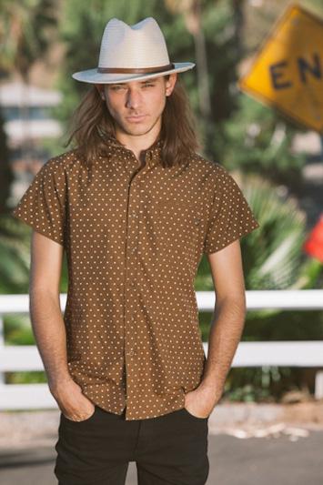 Obey pánská hnědá košile