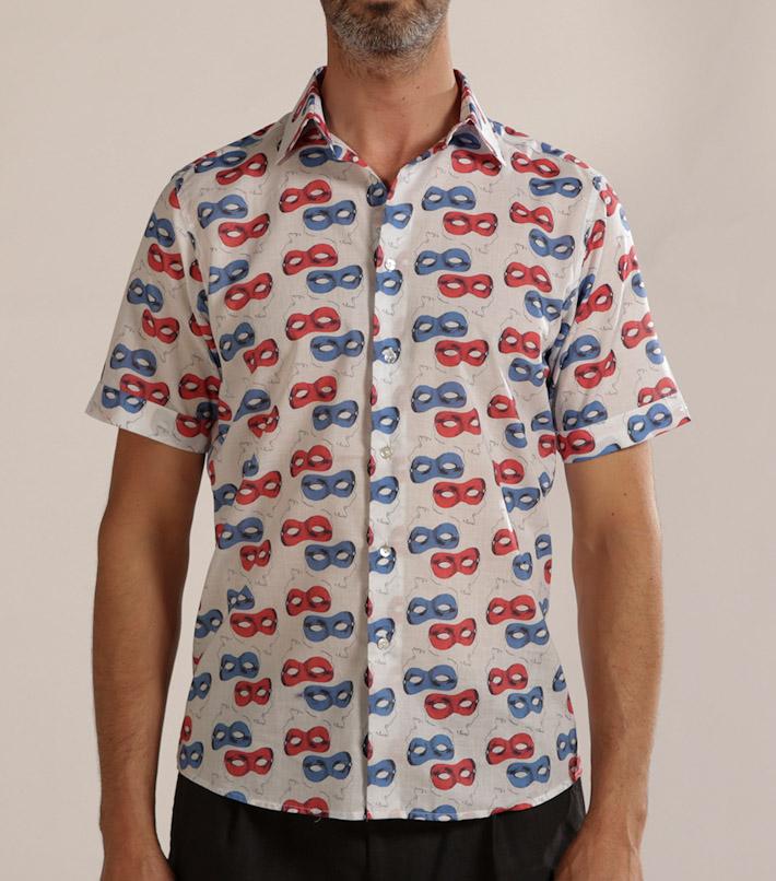 Commune de Paris pánská vzorovaná košile