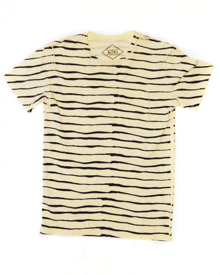 Altru zebrované žluté pánské tričko