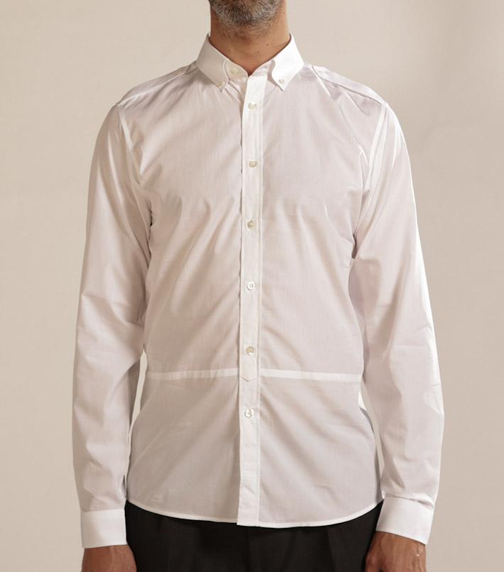 Commune de Paris pánská bílá košile
