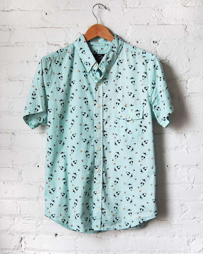 Altru zelená pánská košile krátký rukáv