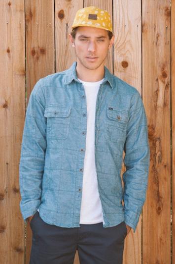 Obey pánská jeansová košile, pánské modré kalhoty