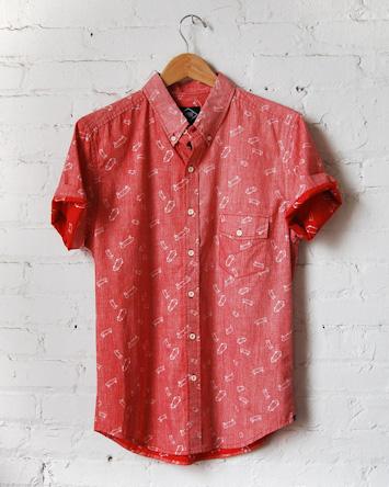 Altru červená pánská košile dlouhý rukáv