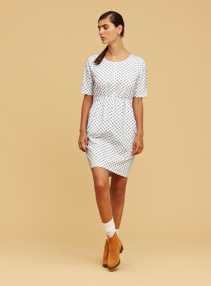 Libertine Libertine bílé letní šaty se vzorem